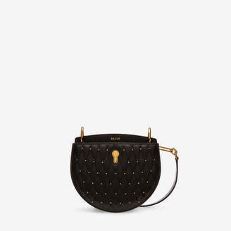 Bally Cecyle Small Black, Women's quilted calf leather small crossbody bag in black