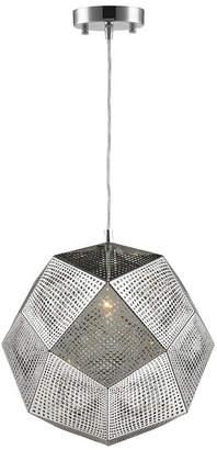 Geometrics 1-Light Chrome Finish Stainless Steel Pendant Light
