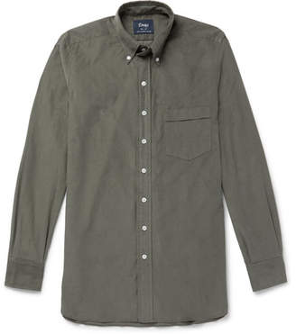 Drakes Drake's - Button-Down Collar Cotton-Corduroy Shirt