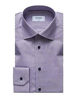 Eton Men's Slim-Fit Check Dress Shirt
