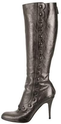 Valentino Leather Knee-High Boots