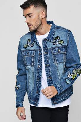 boohoo Badge Denim Western Jacket