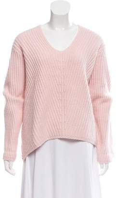 Acne Studios Wool V-Neck Rib-Knit Sweater