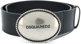 DSQUARED2 wide logo buckle belt