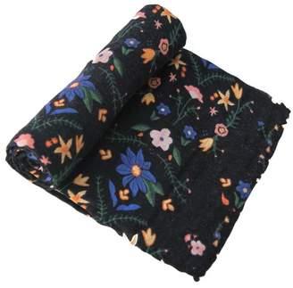 Little Unicorn Floral-Stitch Cotton Swaddle