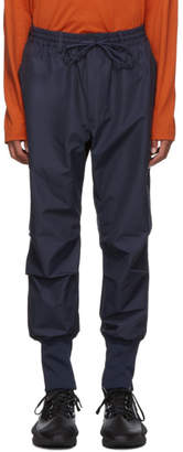 Y-3 Navy Canvas Cargo Pants