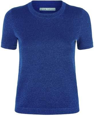 Alice + Olivia Connie Short Sleeve Sweater