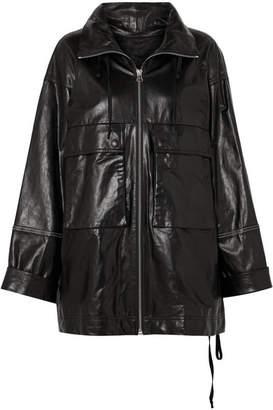 Helmut Lang Zip-embellished Leather Jacket