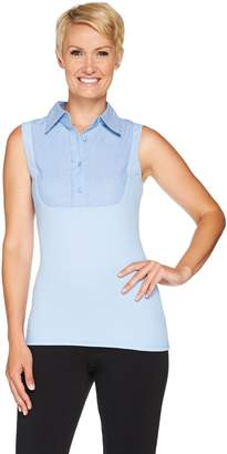 Kathleen Kirkwood Dictrac-Ease Chambray Point Collar Camisole