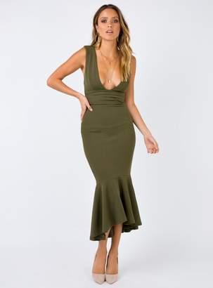 Fantasia Maxi Dress Khaki