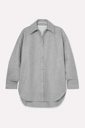 Acne Studios Sarwin Oversized Wool-blend Flannel Shirt - Gray