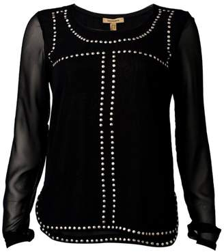 Bandolera Black Studded Top