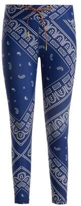 The Upside - Bandana Graphic Print Performance Leggings - Womens - Blue Print