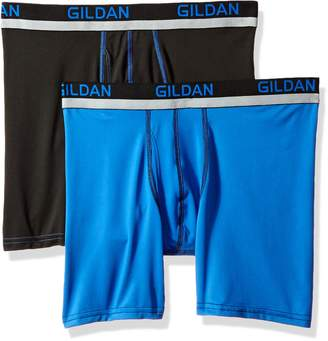 Gildan Men's Stretch Polyester Athletic Boxer Briefs, 2-Pack, Extra Large
