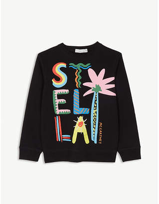 Stella McCartney Logo organic cotton long-sleeved T-shirt 4-16 years