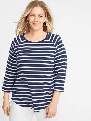 Old Navy Relaxed Rib-Knit Raglan-Sleeve Plus-Size Tee