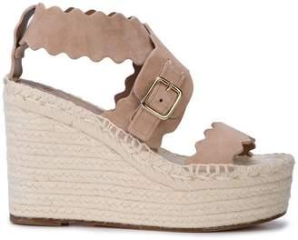 Chloé laser cut wedge sandals