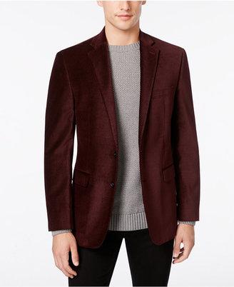 Calvin Klein Men's Burgundy Velvet Slim-Fit Dinner Jacket $350 thestylecure.com