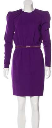 Thomas Wylde Zip-Accented Long Sleeve Dress