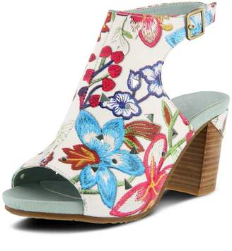 Spring Step L'ARTISTE by Women's Style Tapestry Euro Size 37 Leather Sandal