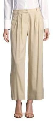 Lafayette 148 New York Cropped Wide-Leg Pants