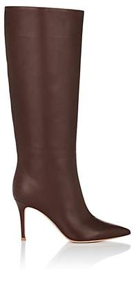 Gianvito Rossi Women's Suzan Leather Knee Boots - Dk. brown