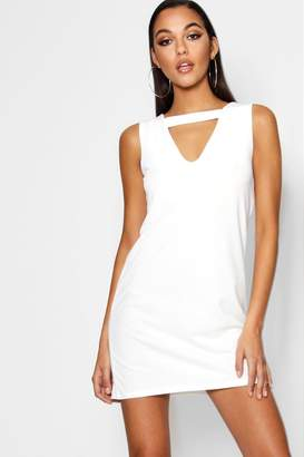 boohoo Cut Out Detail Shift Dress