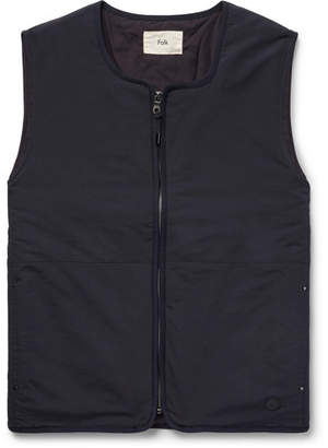 Folk Wadded Nylon Gilet - Men - Navy