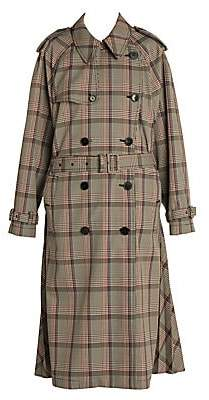 Stella McCartney Women's Prince Of Wales Japanese Check Trench Coat