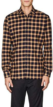 Lanvin Men's Plaid Cotton Flannel Shirt