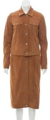 Rebecca Minkoff Suede Long Coat