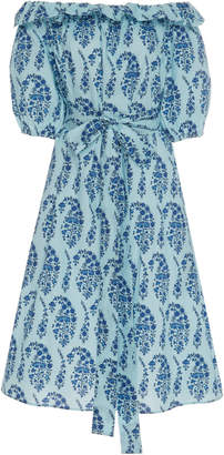 MDS Stripes Amy Printed Cotton Midi Dress