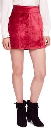 Free People Velvet Miniskirt