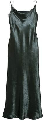 Banana Republic Petite Textured Satin Bias-Cut Maxi Slip Dress