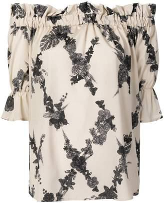 Ballantyne off-the-shoulder blouse