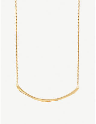 Kendra Scott Graham 14ct gold-plated and cubic zirconia choker necklace