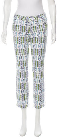 Tory BurchTory Burch Abstract Mid-Rise Jeans