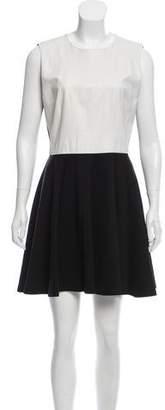 Diane von Furstenberg Jeannie Two Leather-Accented Dress