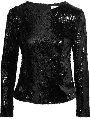 Racil - Judy Sequined Tulle Top - Black