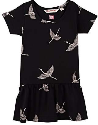 Munster Infants' Bird-Print Cotton Short-Sleeve Dress