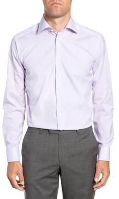 Eton Slim Fit Plaid Dress Shirt