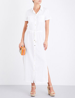 Heidi Klein Maine woven maxi shirt dress $255 thestylecure.com