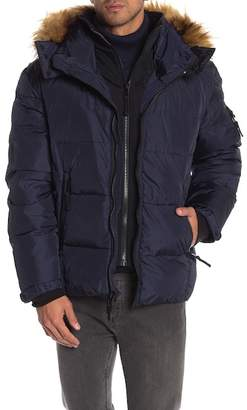 SAM. S13\u002FNYC Downhill Matte Faux Fur Lined Hood Quilted Coat
