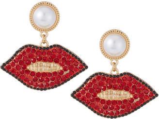Natasha Accessories Limited Lips Drop Earrings