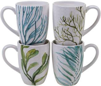 Certified International Sea Green Set Of 4 22Oz Mugs