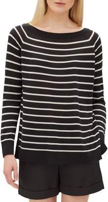 Lafayette 148 New York Stripe Raglan Sweater