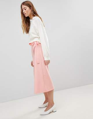 Asos DESIGN Tailored Midi Simple Wrap