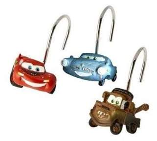 Jay Franco Disney Pixar Cars Set of 12 Shower Curtain Hooks