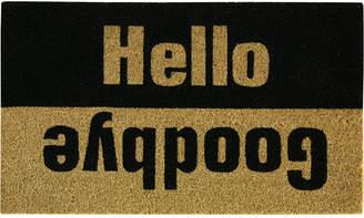 """Bacova Farmhouse Hello/Goodbye 18"""" x 30"""" Doormat"""