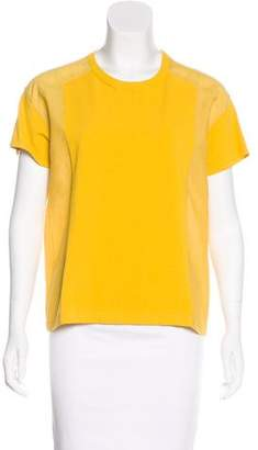 Cédric Charlier Short Sleeve Crew Neck Top